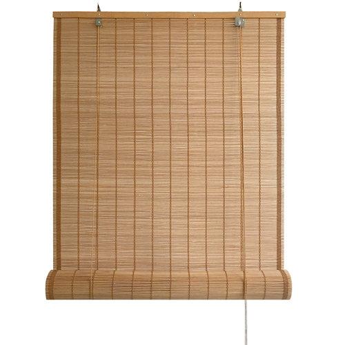 Estor enrollable de bambú exterior marrón inspire de 180x300cm