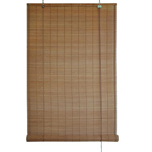 Estor enrollable de bambú exterior marrón inspire de 150x300cm
