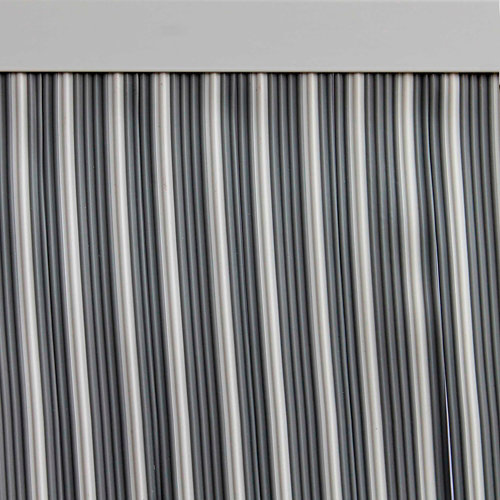 Cortina de puerta gris de 90 x 210 cm