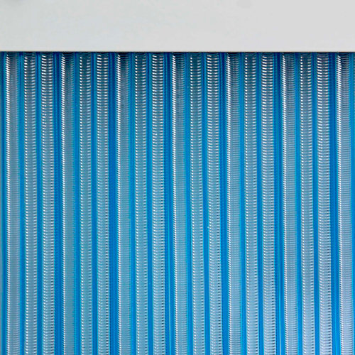 Cortina de puerta azul mijares de 90 x 210 cm