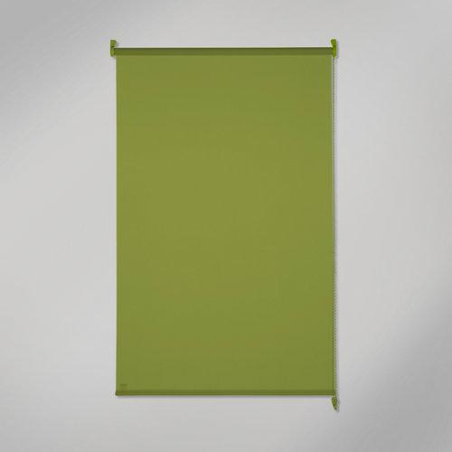 Estor enrollable opaco black out verde de 105x250cm