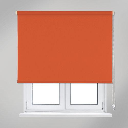 Estor enrollable opaco black out naranja de 105x250cm
