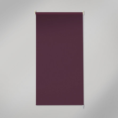 Estor enrollable opaco black out violeta de 90x250cm