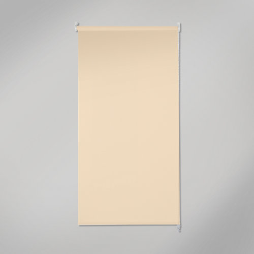 Estor enrollable opaco black out beige de 120x250cm