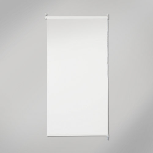 Estor enrollable opaco black out blanco de 90x250cm