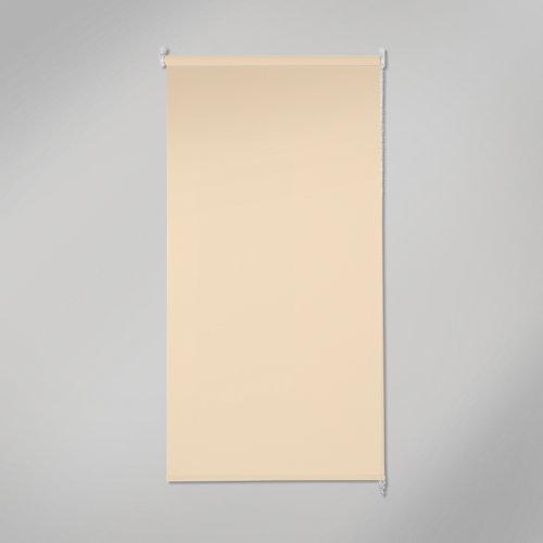 Estor enrollable opaco black out beige de 90x250cm