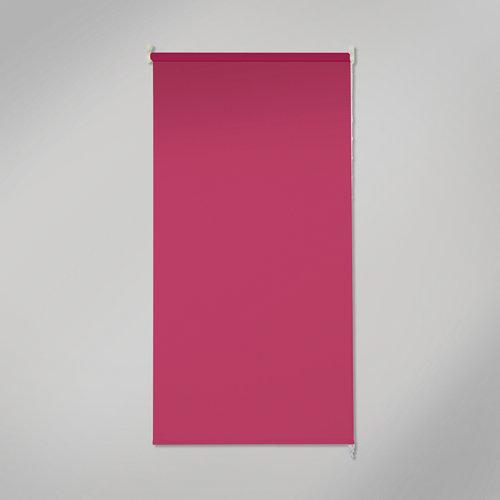 Estor enrollable opaco black out rosa de 120x250cm