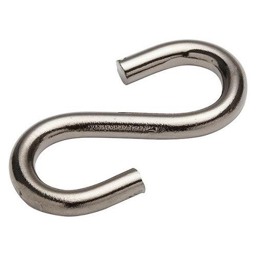 Pack 2 ganchos abiertos de acero de 30 mm de longitud