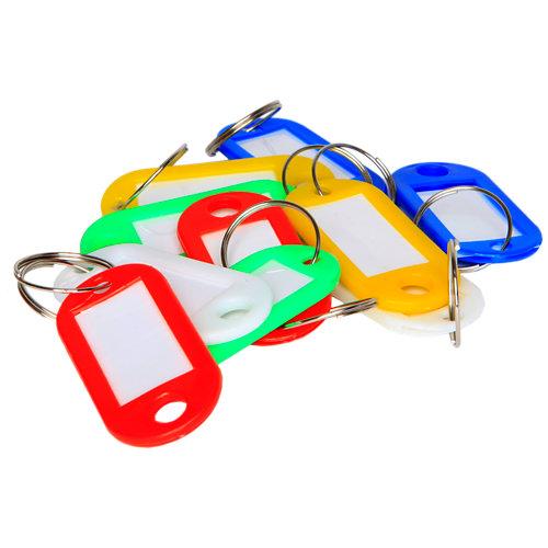 Pack 10 portaetiquetas multicolor 23x50mm