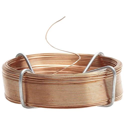Alambre de cobre de 30 m de longitud y 0.4 mm de ø