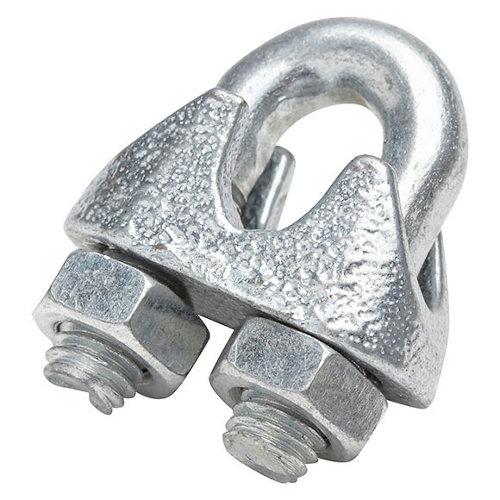 Pack 2 sujetacables de acero cincado