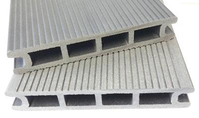 Lama de composite alveolar gris ceniza 14x230 cm y 24 mm