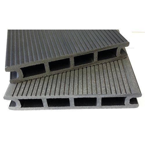 Lama de composite alveolar negro 14x230 cm y 24 mm