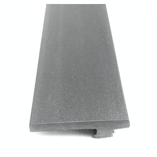 Remate lateral de composite gris 230x0,8x4,6 cm