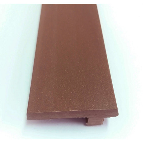 Remate lateral de composite red wood 230x0,8x4,6 cm
