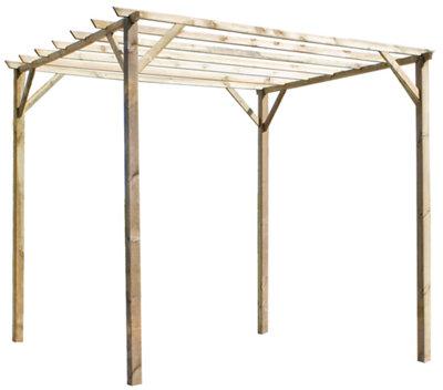 Pérgola de madera Ancolie beige de 9 m2