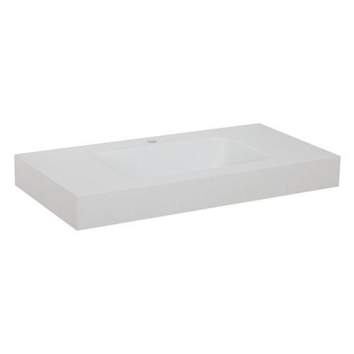 Lavabo moode blanco 90x12x10 cm