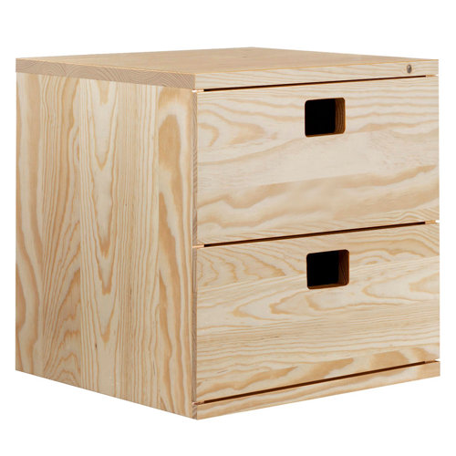 Estantería de madera en kit dinamic de 36,2x36,2x33 cm y 50 kg max, por balda