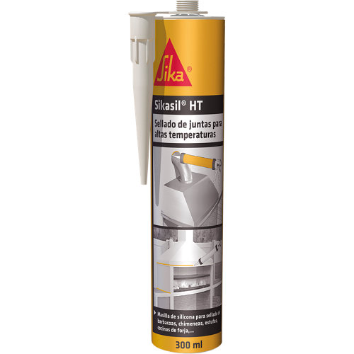 Silicona para altas temperaturas sikasil ht de 300 cm³