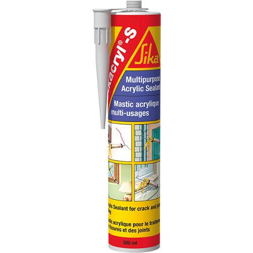 Masilla para paredes sikacryl s 300 ml gris