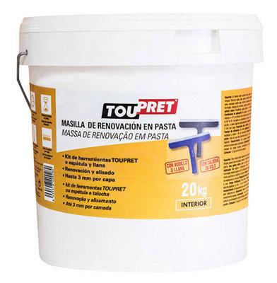 Masilla de renovación cubregotelé en pasta TOUPRET 20KG