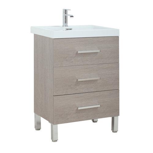 Mueble de baño madrid roble gris 60 x 40 cm