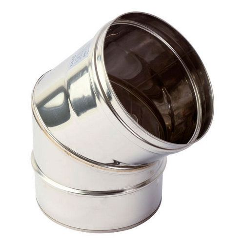 Curva de acero inoxidable de 200 de diámetro