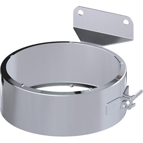 Fijo para tubo y taco de acero inoxidable de 80 de diámetro