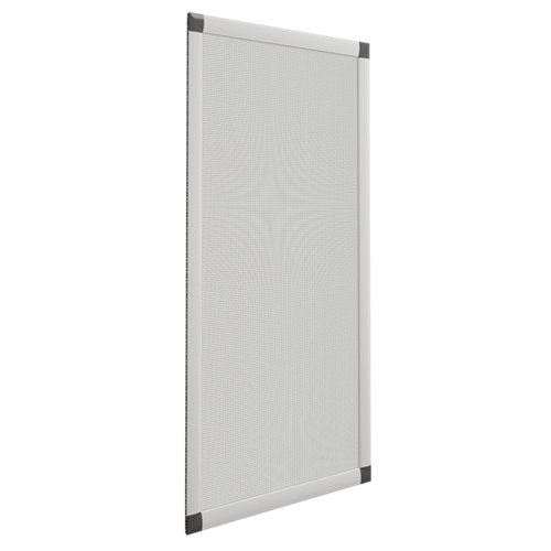 Mosquitera ventana corredera de color plata de 120x120 cm (ancho x alto)