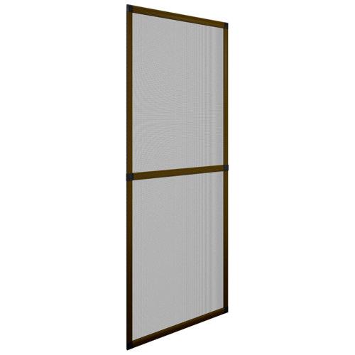 Mosquitera balconera corredera de color bronce de 70x220 cm (ancho x alto)