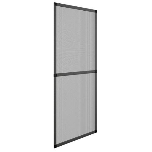 Mosquitera balconera corredera color gris ral 7011 de 70x220 cm (ancho x alto)