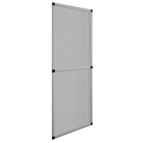 Mosquitera balconera corredera de color plata de 100x220 cm (ancho x alto)