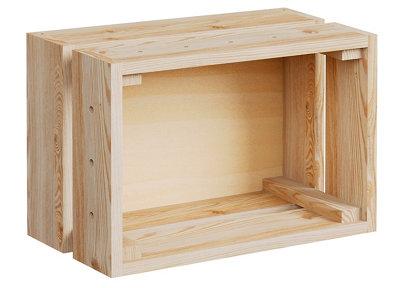 Caja de madera de 18x25.6x38.4 cm MODULAR HOME