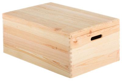 Caja madera CREATIVE con tapa de 23x40x60 cm 55L