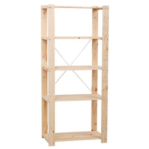 Estantería de madera en kit evolution de 76.7x174.2x43 cm y carga max. 75 kg por