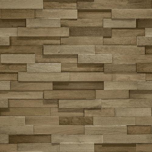 Papel pintado trampantojo madera 5,3 m²