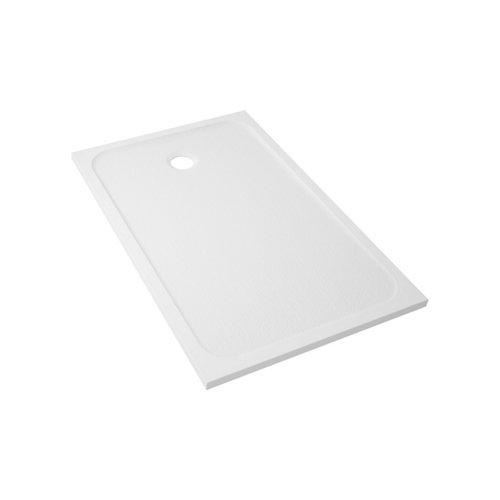 Plato ducha rectangular mila 100x70 cm blanco