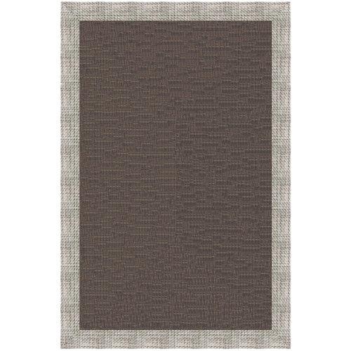 Alfombra marrón pvc charme 100 x 150cm