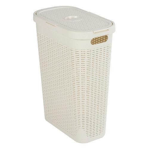 Cesto de ropa cottage blanco 40l