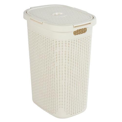 Cesto de ropa cottage blanco 60l