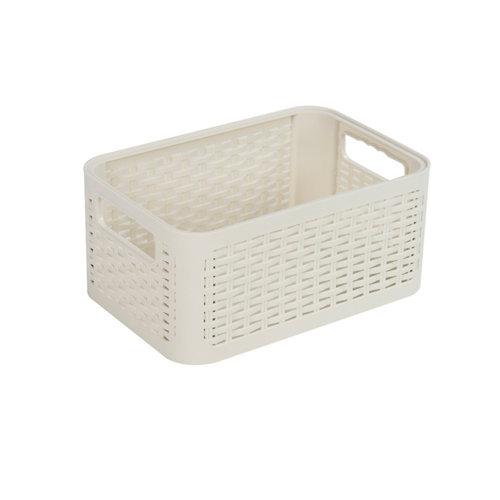 Cesta cottage blanco 19x13 cm