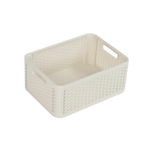Cesta cottage blanco 28x17 cm