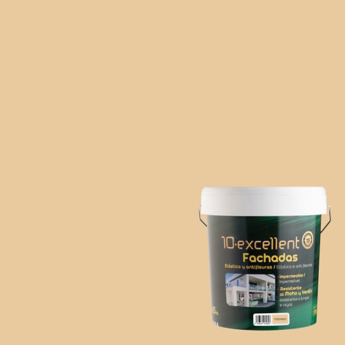Pintura para fachadas elastica 10excellent tostado mate 15l