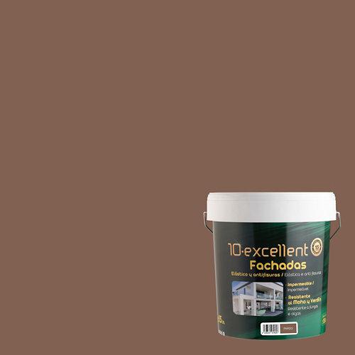 Pintura para fachadas elastica 10excellent pardo mate 15l