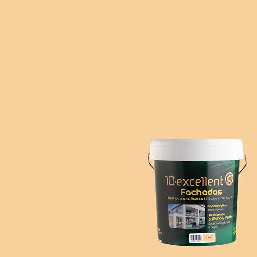 Pintura para fachadas elastica 10excellent cava mate 15l