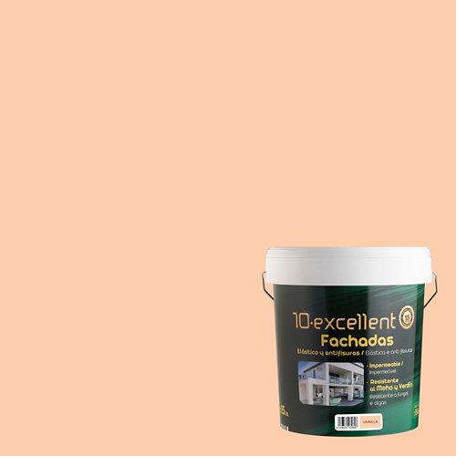 Pintura para fachadas elast. 10excellent vainilla mate 15l