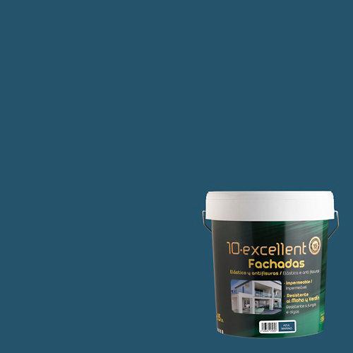 Pintura para fachadas 10excellent azul marino mate 15l