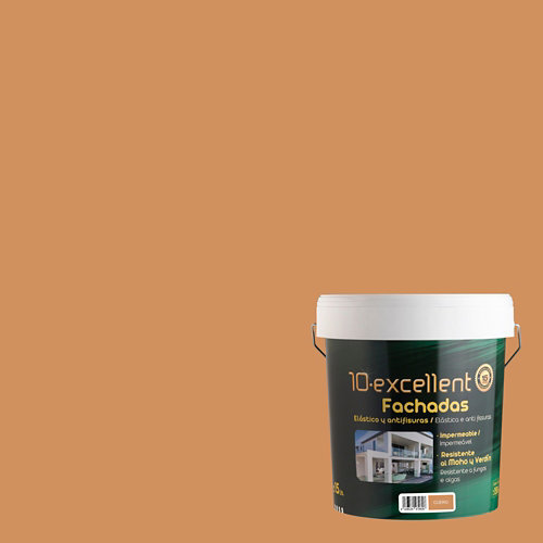 Pintura para fachadas elastica 10excellent cuero mate 15l