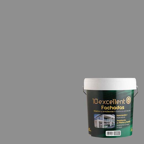 Pintura para fachadas 10excellent gris medio mate 15l