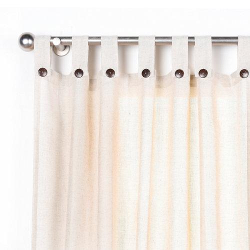 Cortina charlin con motivo liso beige de 280 x 140 cm